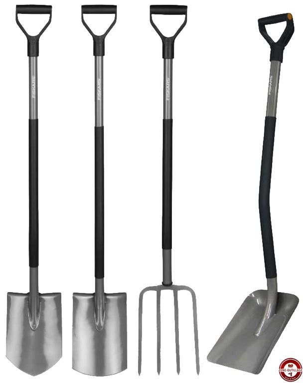 Outils pour le travail du sol manche m tal fiskars - Outils de jardin fiskars ...