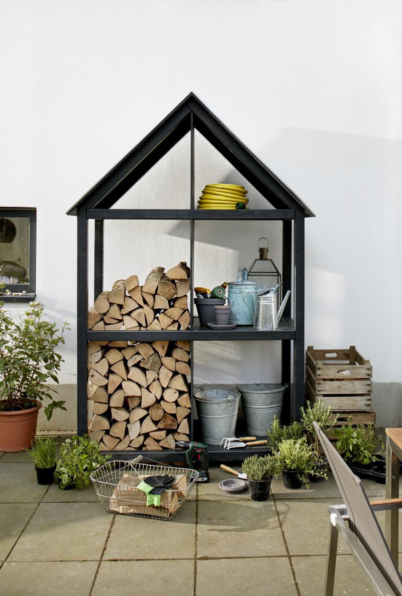 DIY Fabriquer un abri pour stocker le bois de chauffage Zone Outillage # Abri De Bois De Chauffage