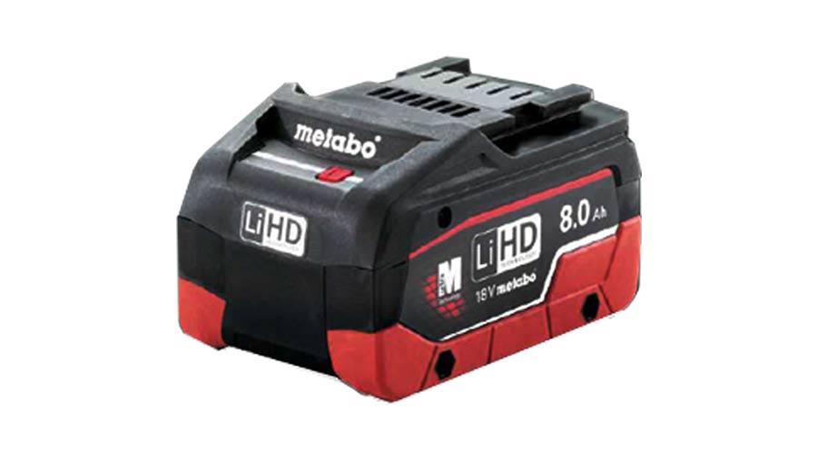 metabo peine recharger ses batteries avec la nouvelle lihd 8 0 ah zone outillage. Black Bedroom Furniture Sets. Home Design Ideas