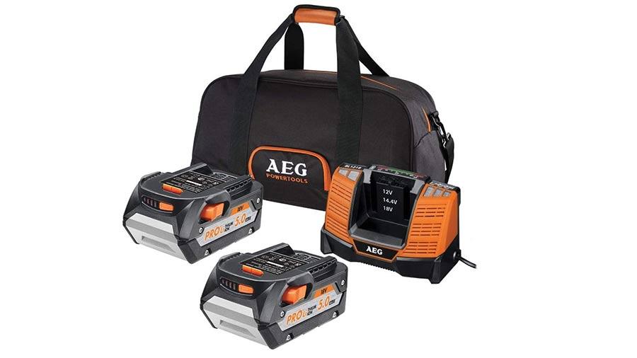 avis et prix pack batterie SETLL1850BL 18V 5.0 Ah et chargeur AEG powertools promotion pas cher