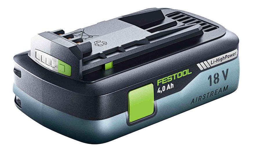 Batterie Festool haute puissance BP 18 Li 4,0 HPC-AS