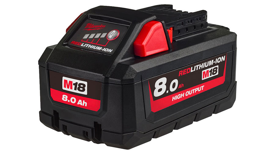 Batterie Milwaukee M18 HB8 HIGH OUTPUT REDLITHIUM-ION 18 V 8,0 Ah