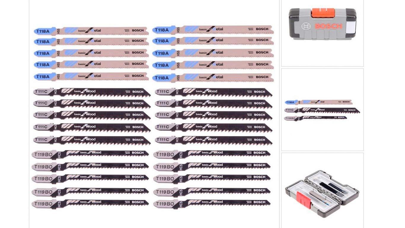 Bosch 2607010903 Set de 30 Lames de scie sauteuse wood and metal T 119 BO