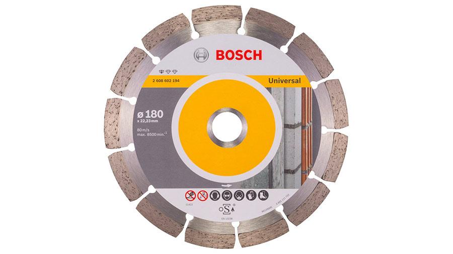 Bosch 2608602194 Disque à tronçonner diamanté standard for universal 180 x 22,23 x 2 x 10 mm