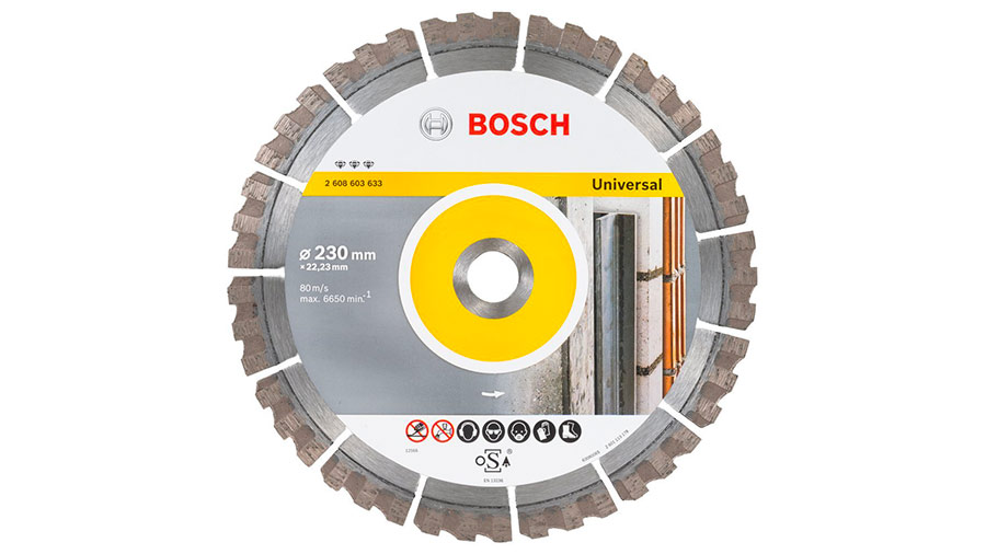 Bosch 2608603633 Disque à tronçonner diamanté best for universal 230 x 22,23 x 2,4 x 15 mm