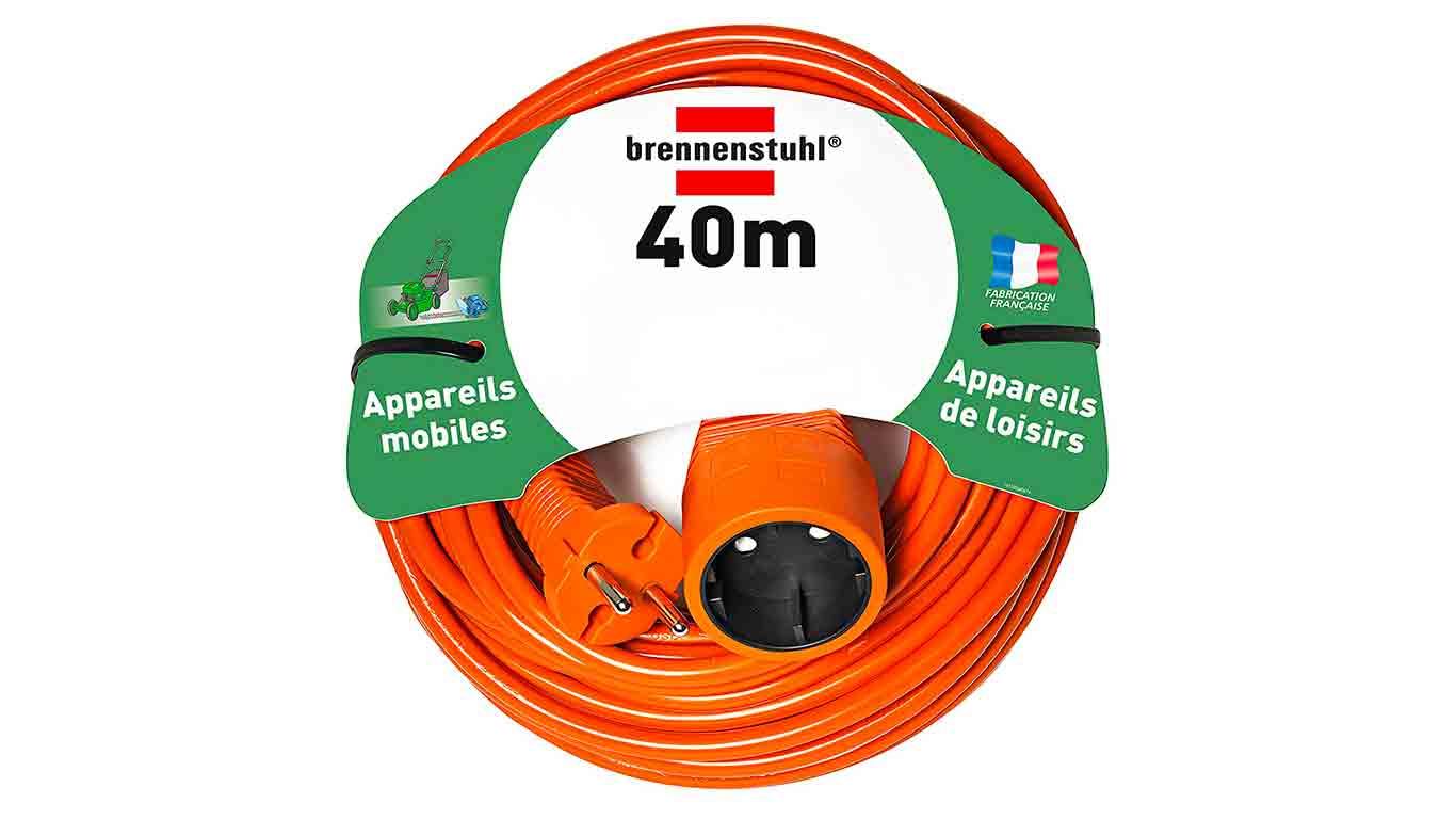 Brennenstuhl 1162401 Rallonge électrique 40 m H05VV-F 2 x 1,5 Orange