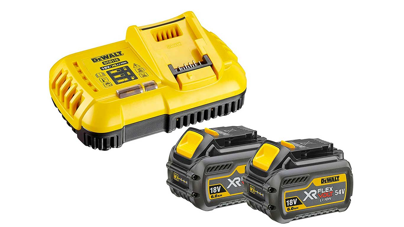 avis et prix Kit de démarrage 1 chargeur rapide + 2 batteries 54V XR FLEXVOLT 6Ah Li-Ion