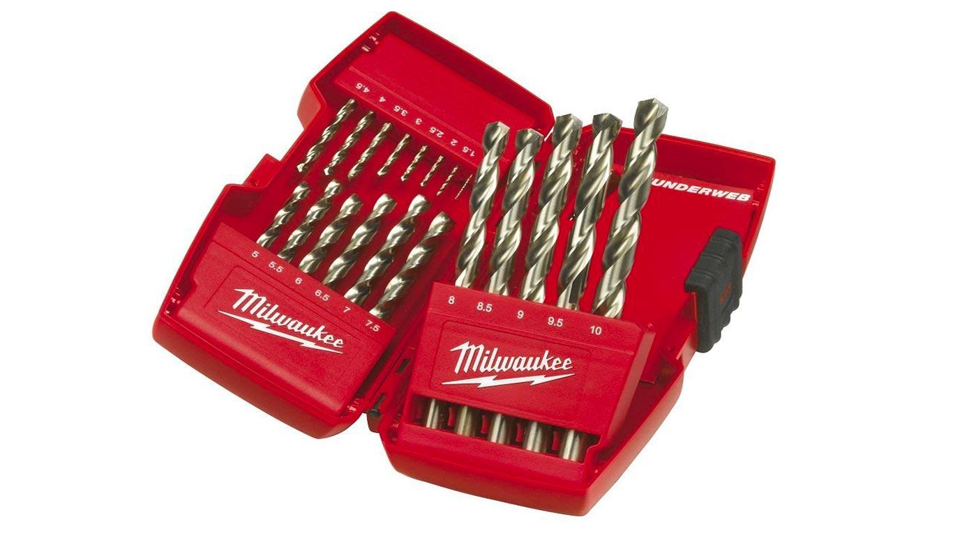 Milwaukee 4932352374 Coffret de 19 forets en acier rapide HSS-G