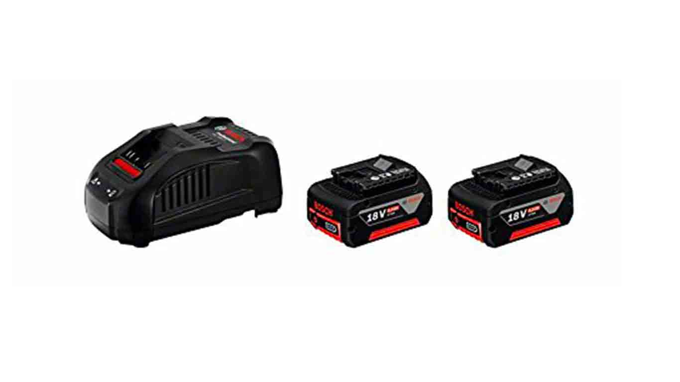 BOSCH Pack 2 batteries 18V 6.0Ah et Chargeur GAL1880 CV - 1600A00B8L