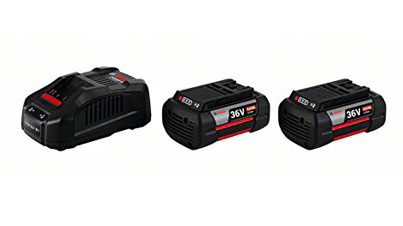 BOSCH Pack 2 batteries 36 V 4.0Ah et Chargeur GAL1880 CV