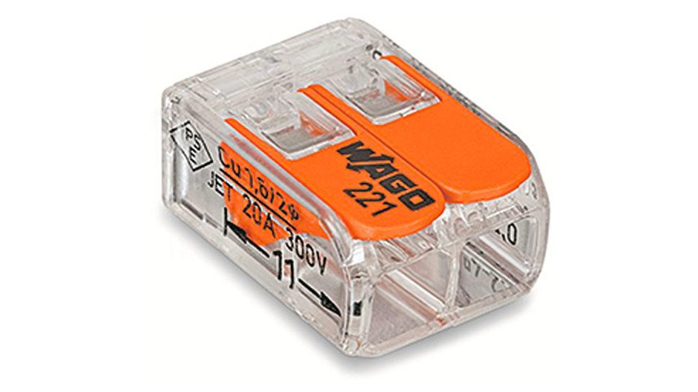 Wago - 100 Bornes de Connexion automatique S221 2 entrées