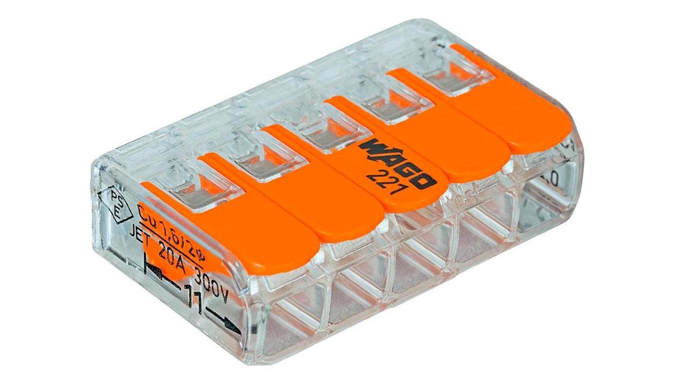 Wago 221-415 Borne de connexion 3 fils 0,2 à 4 mm² avec levier de commande Transparent Modèle compact