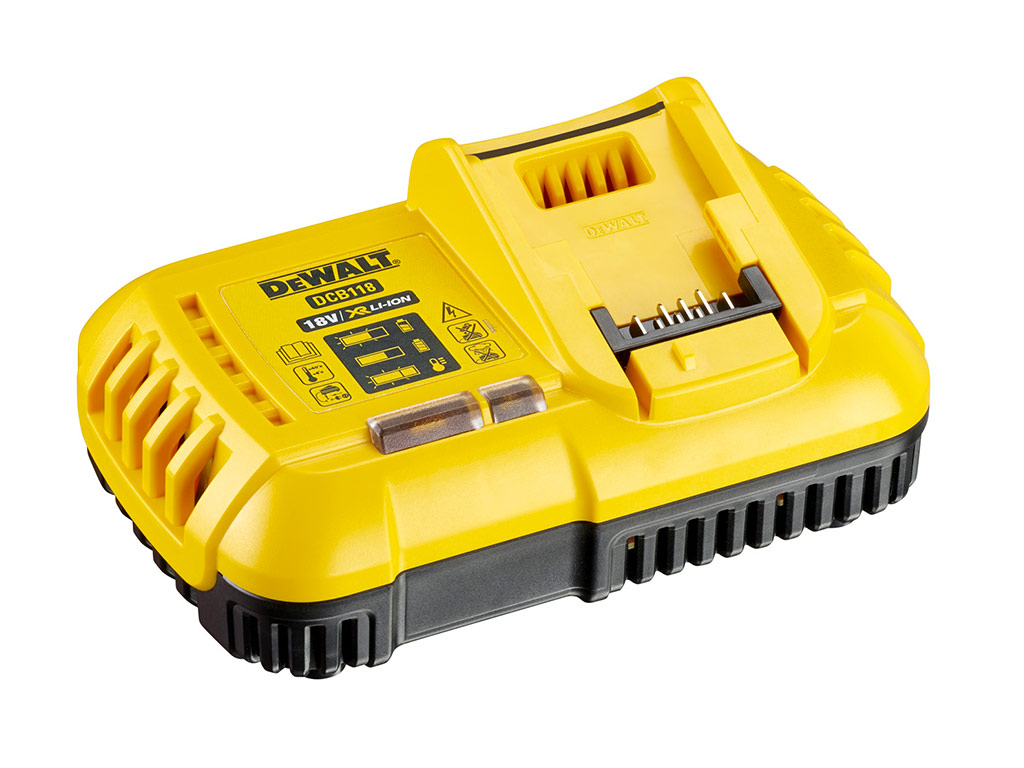 test avis et prix chargeur de batteries dewalt dcb118 xr flexvolt zone outillage. Black Bedroom Furniture Sets. Home Design Ideas