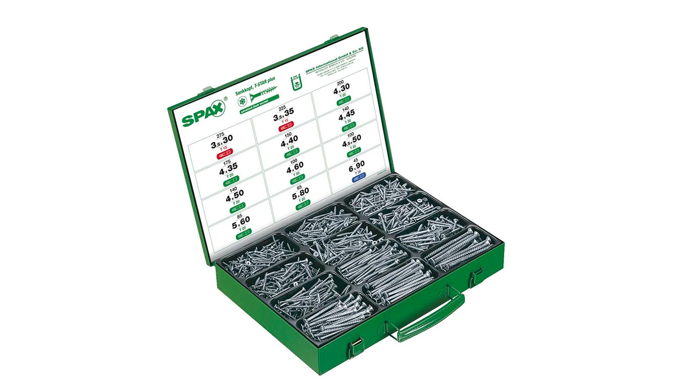 Coffret de vis SPAX 1700 pièces WIROX 4000009161009