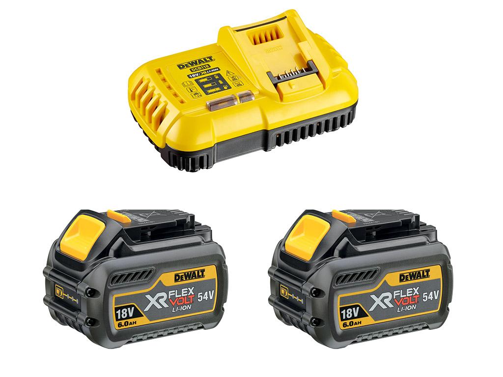 Kit de démarrage 1 chargeur rapide + 2 batteries 54V XR FLEXVOLT 6Ah Li-Ion