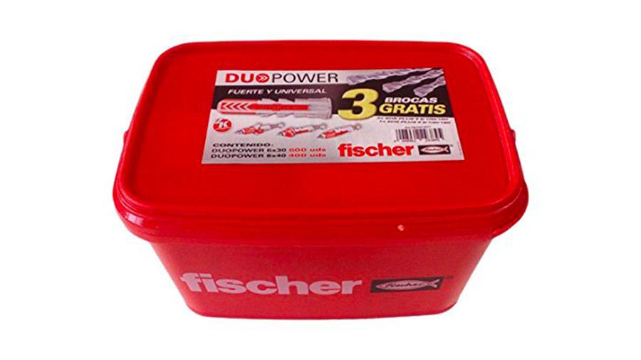 Kit de 1000 chevilles DUOPOWER fischer et 3 forets fischer prix pas cher