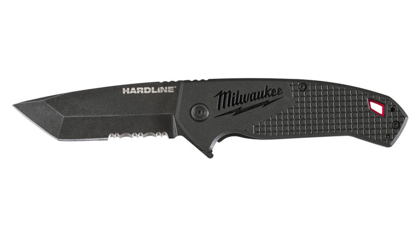 Couteau pliant Milwaukee Hardline lame crantée
