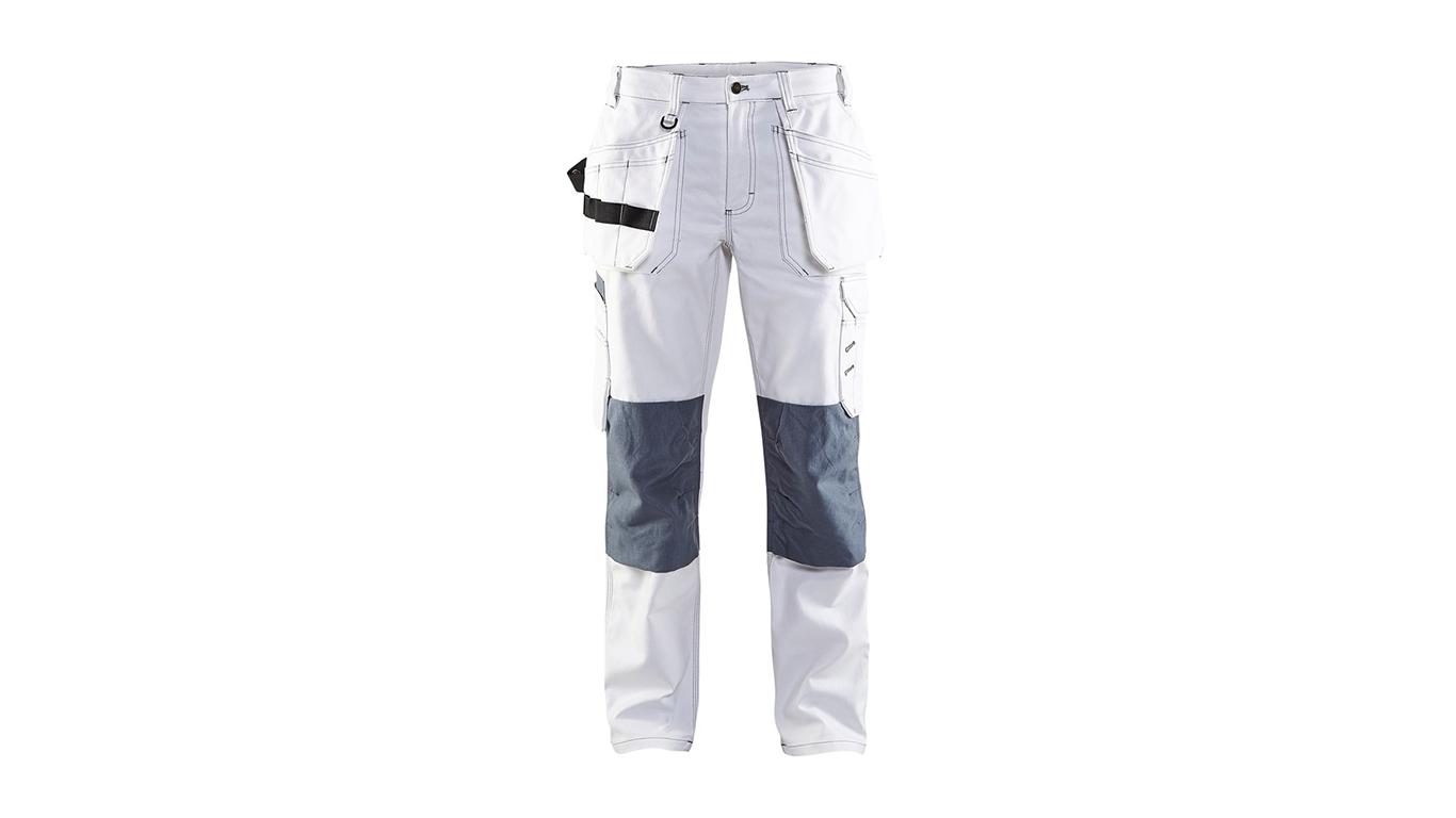 Pantalon peintre blanc/gris femme Blaklader