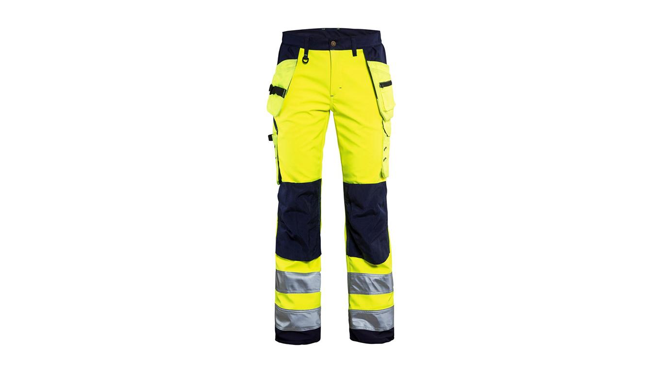 Pantalon softshell haute visibilité jaune/marine pour femme Blaklader