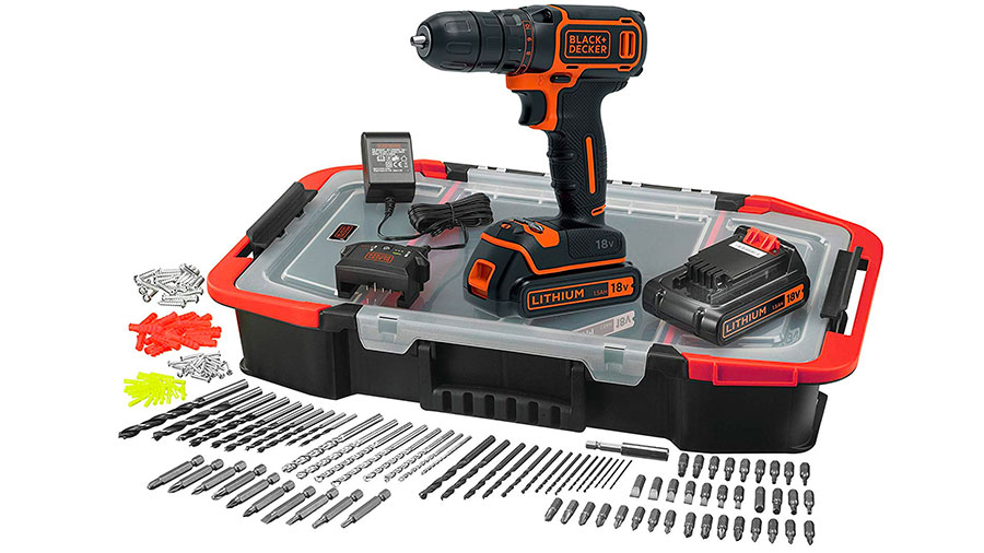Perceuse visseuse sans fil BDCDC18BAST-QW Black&Decker