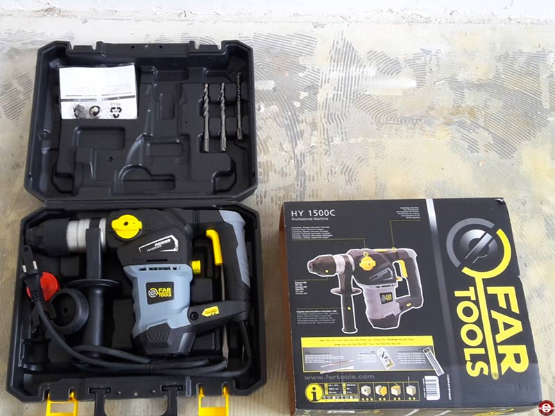 Marteau perforateur Far Tools HY 1500C © Zone Outillage