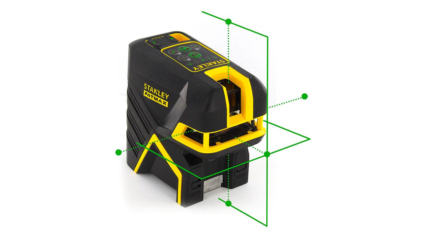 3 nouveaux lasers faisceau vert arrivent chez stanley for Fil a plomb laser stanley