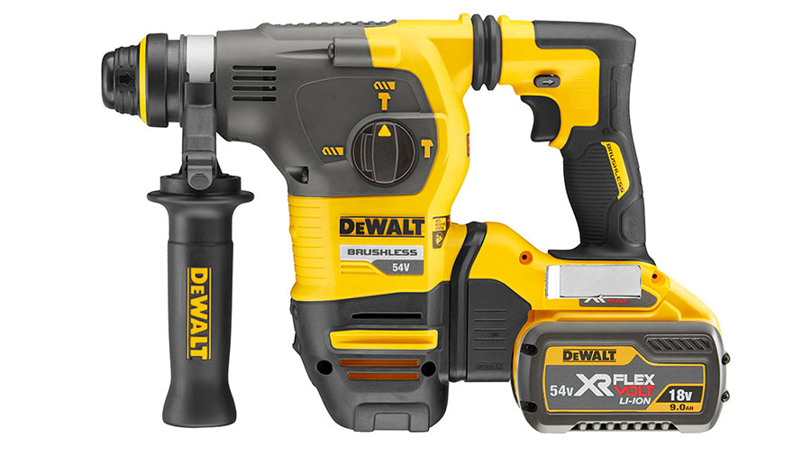 test et avis Perforateur sans fil SDS-Plus DEWALT DCH333 54 V XR FLEXVOLT