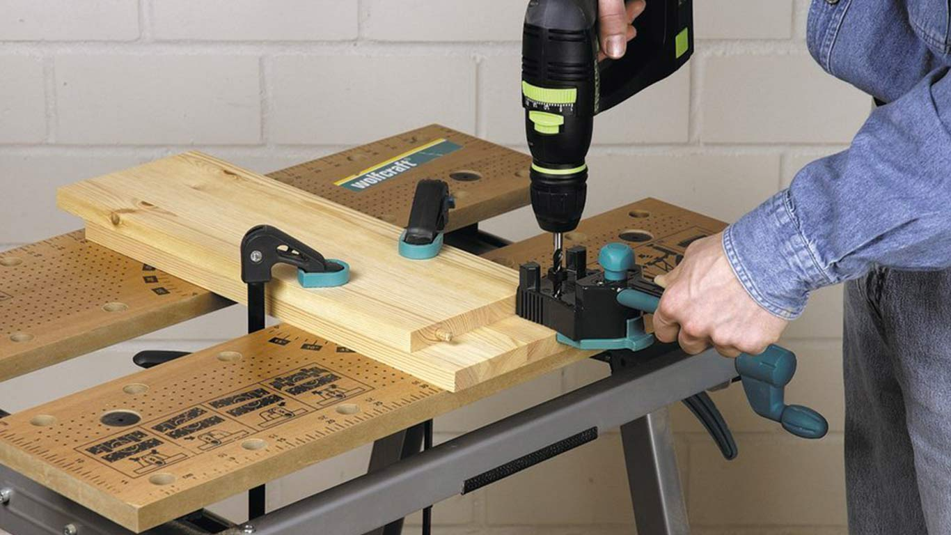 Guide d'assemblage pour tourillons wolfcraft 4640000