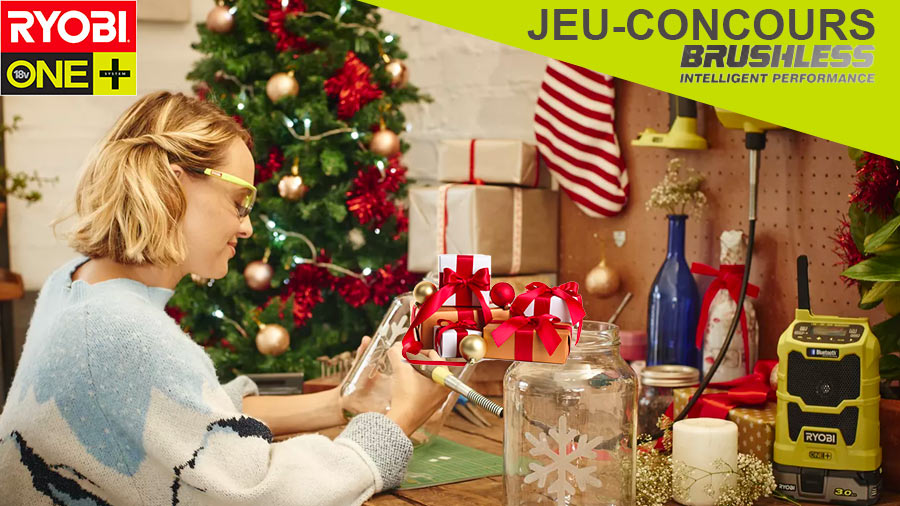 Jeu-concours RYOBI spécial Noël 2020