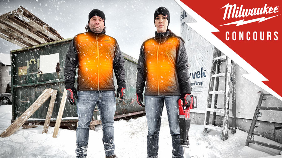 Concours veste chauffante Milwaukee