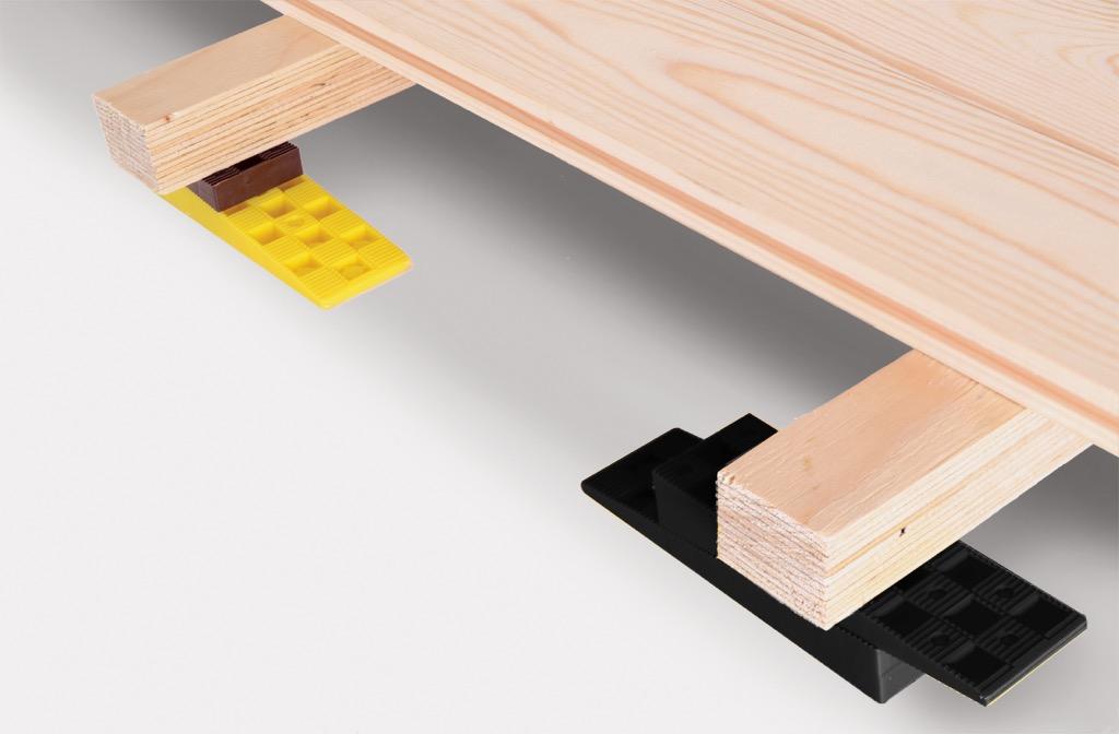 Edma propose des syst mes de calage pour une mise niveau for Caler un meuble
