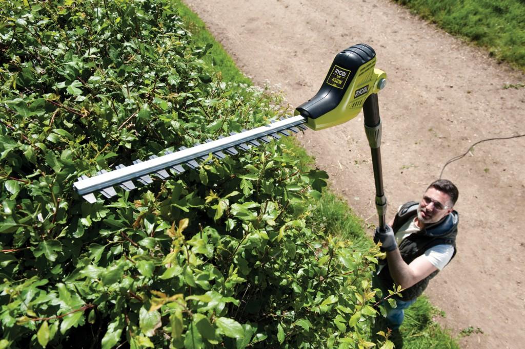 Ryobi lance deux outils longue port e rpp755e et rpt4545e - Taille bordure lidl ...