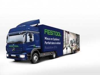 Camion du roadshow Festool