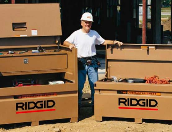Coffres de chantier JobMaster : le résultat d'une collaboration entre RIDGID et Knaack