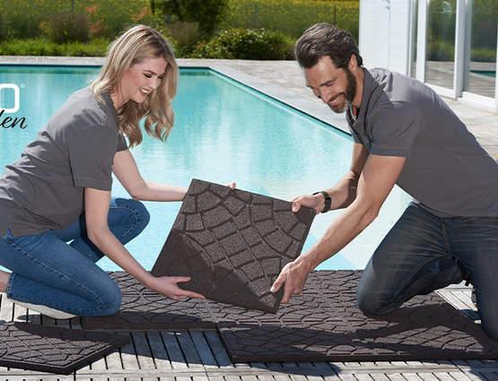 Aménagez votre jardin avec les dalles et bordures ECO Garden Ribimex