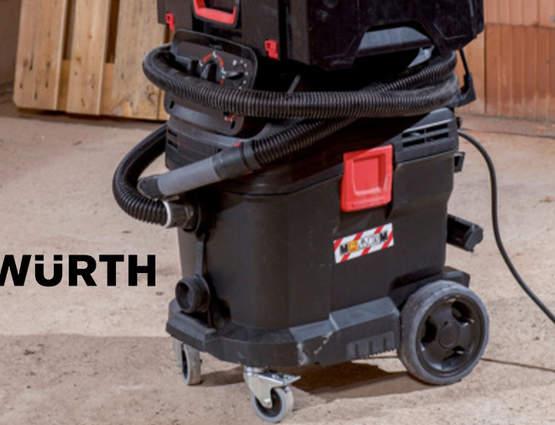 WÜRTH dévoile sa nouvelle gamme d'aspirateurs industriels eau et poussière