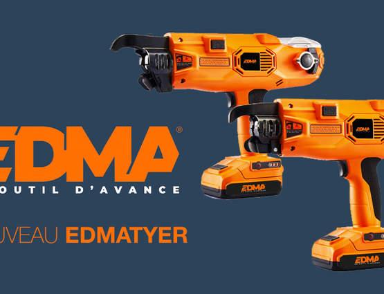 EDMA présente ses 2lieurs sans-fil pour fers à béton EDMATYER