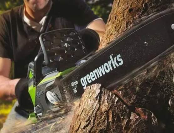 tronçonneuse greenworks 40v 30 cm G40cs30k2