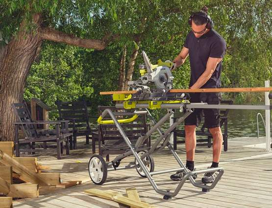 support universel à roulettes RLSW01 Ryobi