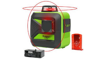 2 x 360 Niveau laser croix rouge HUEPAR 602CR
