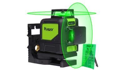 2 x 360 Niveau laser croix vert, ligne laser auto-nivellement HUEPAR 902CG
