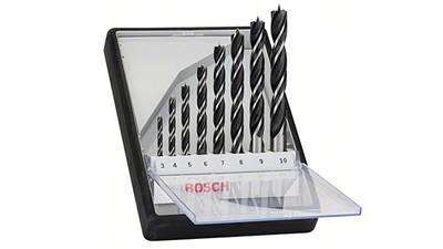 Bosch 2607010533 Assortiment de mèches hélicoïdales à bois Ø 3/4/5/6/7/8/9/10 mm