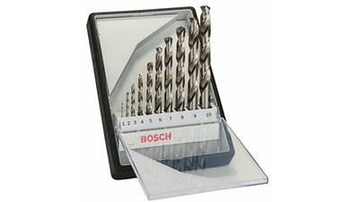 Bosch 2607010535 Coffret de forets à métaux rectifié HSS-G Robust Line pointe de perçage 135°