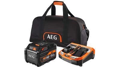 Pack batterie 18 V 9,0 Ah et chargeur SETL1890RHDBLK AEG