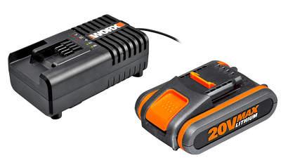 Pack batterie 20V 2Ah et chargeur 20V Worx