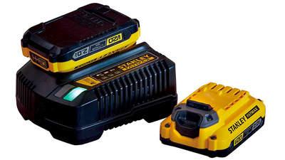Avis et prix pack batterie et chargeur Stanley Fatmax 18 V 2.0 Ah SFMCB12D2 FATMAX V20