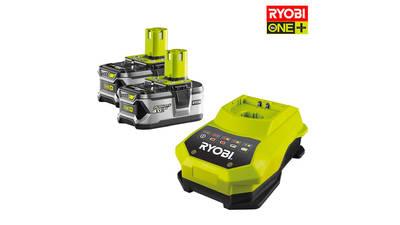 Pack de 2 batteries RYOBI 18V OnePlus 4.0Ah Lithium-ion - 1 chargeur rapide RBC18LL40