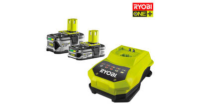 Pack de 2 batteries RYOBI 18V OnePlus 4.0Ah et 1.5 Ah Lithium-ion - 1 chargeur rapide RBC18LL50