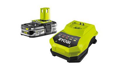 Ryobi RBC18L15 Chargeur 1 h et batterie lithium-ion 18 V 1,5 Ah