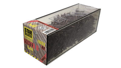 Boîte de vis en inox pour terrasse FixBoX 5x60 Inox A2 double filet (430947)